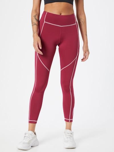 Pantaloni sport 'Wor' Reebok Sport pe roșu bordeaux / alb, Vizualizare model