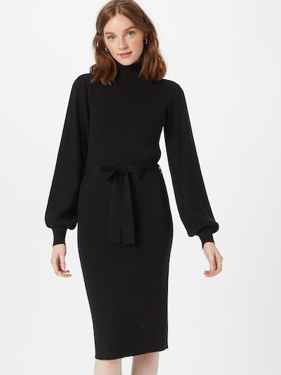 MOSS COPENHAGEN Gebreide jurk 'Philina' in de kleur Zwart, Modelweergave
