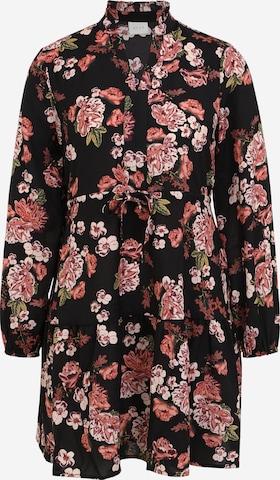 VILA Sukienka koszulowa 'Surashas' w kolorze czarny