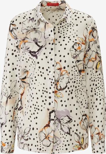 Laura Biagiotti Roma Langarmbluse mit Allover-Muster in elfenbein / mischfarben, Produktansicht