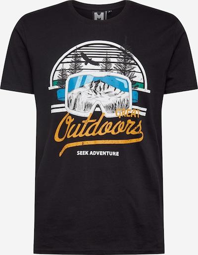 Hailys Men T-Shirt en mélange de couleurs / noir, Vue avec produit