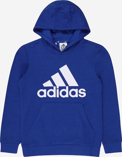 ADIDAS PERFORMANCE Sportsweatshirt in blau / weiß: Frontalansicht