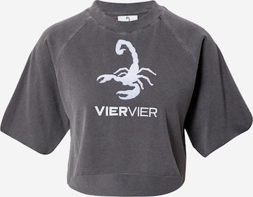VIERVIER Μπλουζάκι 'Zoe' σε γκρι