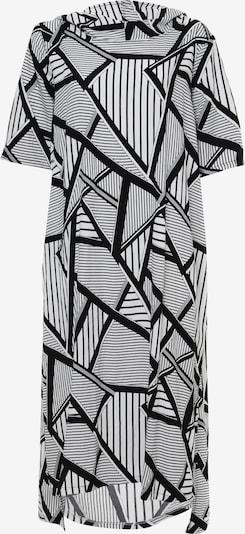 Madam-T Maxikleid 'ADELINARA' in schwarz / weiß, Produktansicht