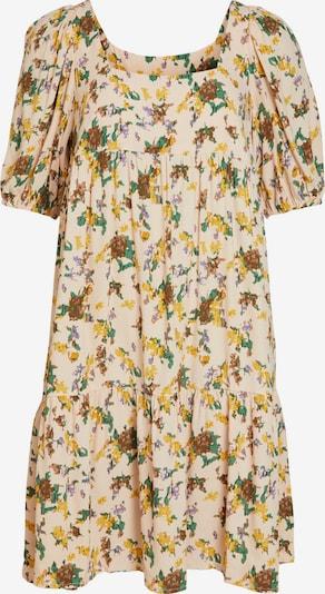 OBJECT Vestido 'Fannie' en marrón / amarillo / verde / mezcla de colores / melocotón, Vista del producto