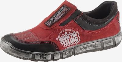 KACPER Slipper in rot / schwarz, Produktansicht