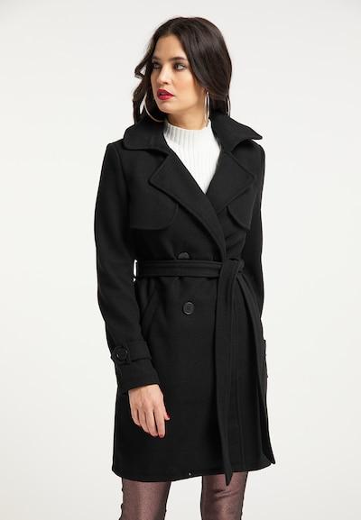 faina Mantel in schwarz, Modelansicht