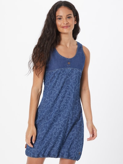 Alife and Kickin Kleid 'Doja' in blue denim / hellblau, Modelansicht