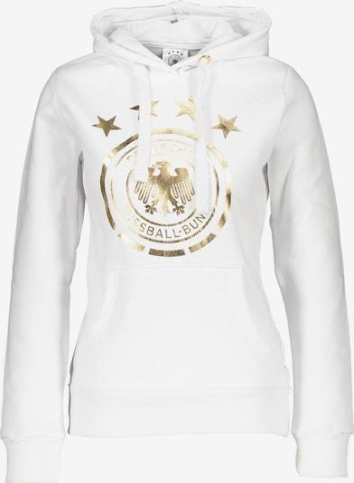 DFB Sweatshirt in gold / weiß, Produktansicht