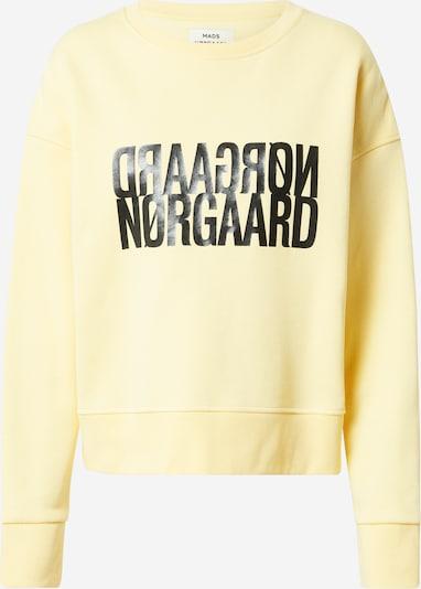 MADS NORGAARD COPENHAGEN Sweat-shirt 'Tilvina' en jaune pastel / noir, Vue avec produit