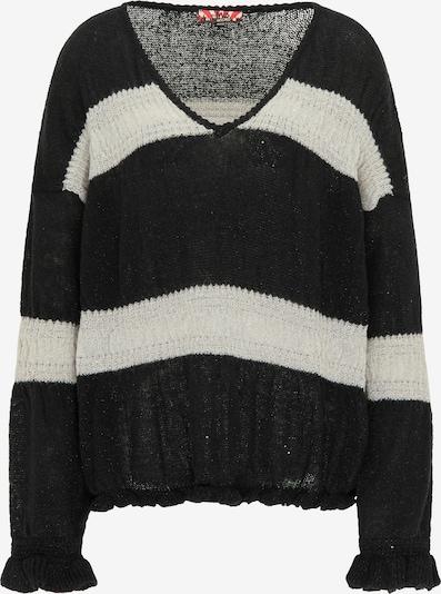 myMo ROCKS Sweater in mottled black / Silver / White, Item view