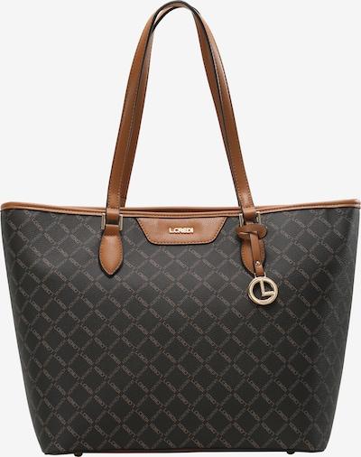 L.CREDI Shopper 'Filiberta' in braun / schwarz, Produktansicht