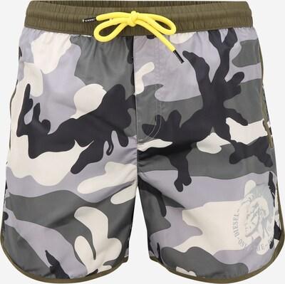 DIESEL Kratke kopalne hlače | siva / antracit / temno siva / bela barva, Prikaz izdelka