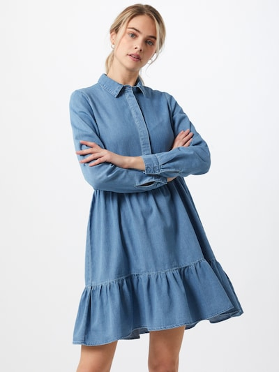 VERO MODA Kleid 'VMMARIA FRILL' in blue denim, Modelansicht