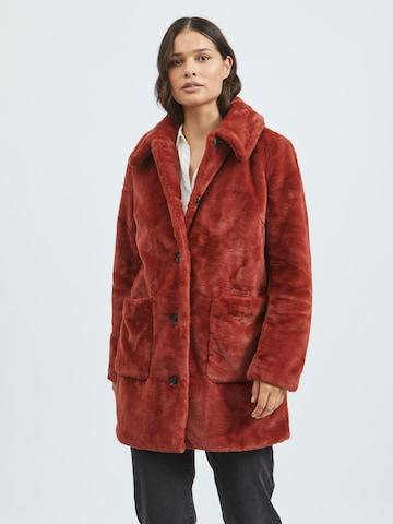 VILA Between-Seasons Coat 'Boda' in Red