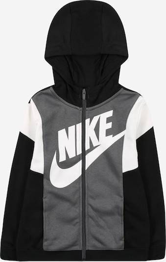 Nike Sportswear Sweatjacke 'Amplify' in grau / schwarz / weiß, Produktansicht