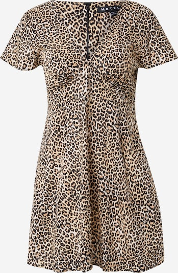 Motel Kleid 'Elara' in beige / hellbraun / schwarz, Produktansicht