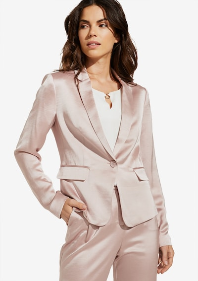 COMMA Blazer aus Shiny Satin in altrosa, Modelansicht