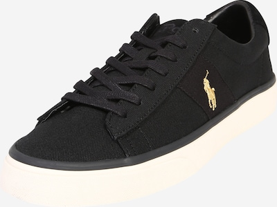 POLO RALPH LAUREN Sneaker low 'Sayer' i guld / sort: Frontvisning