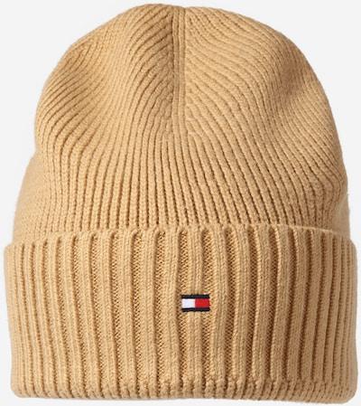 TOMMY HILFIGER Müts 'PIMA' tumebeež / punane / valge, Tootevaade