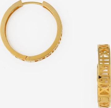 Orelia Earrings 'Roman Numeral 2021' in Gold