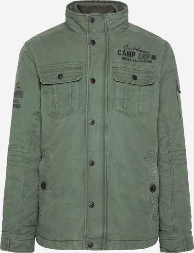 CAMP DAVID Wattierte Jacke mit Stickerei am Rücken in oliv, Produktansicht