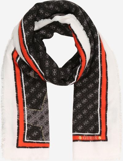 GUESS Šal 'JENSEN' | rdeča / črna / bela barva, Prikaz izdelka