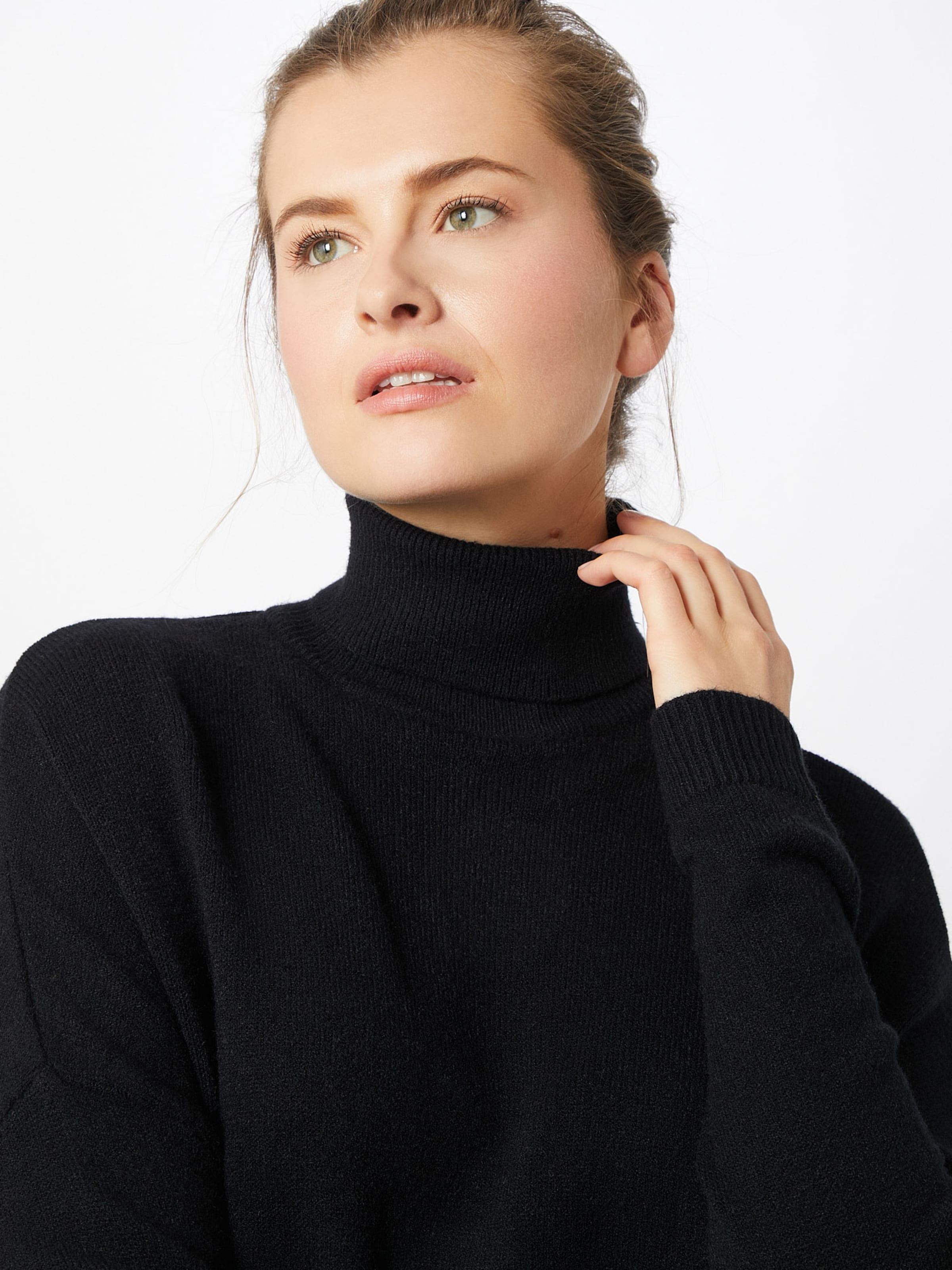 VILA Stickad klänning 'Noos' i svart