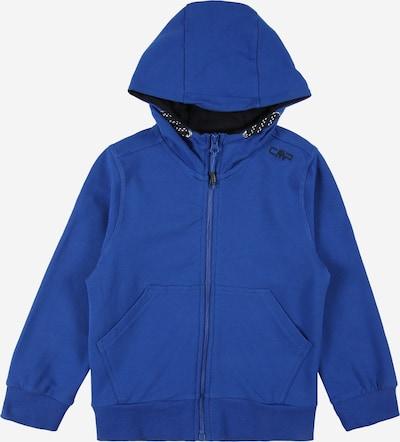 Bluză cu fermoar sport CMP pe albastru regal / negru / alb, Vizualizare produs