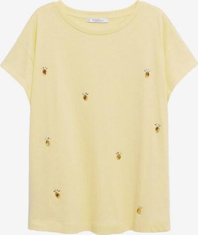 VIOLETA by Mango Shirt 'Easylux' in de kleur Bruin / Lichtgeel / Grasgroen, Productweergave