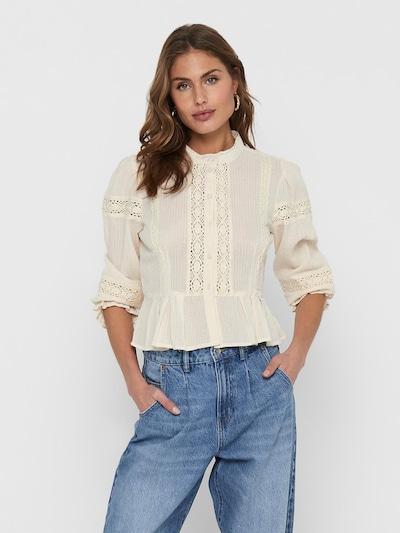 ONLY Bluse 'Casablanca' in creme / silber / weiß, Modelansicht