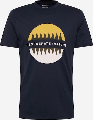 KnowledgeCotton Apparel T-shirt 'ALDER RO' i blå