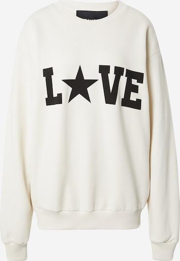 RAIINE Sweatshirt 'LAUREL' in de kleur Zwart / Wit: Vooraanzicht