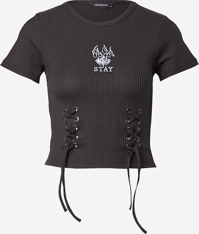 Trendyol Shirt in de kleur Zwart / Wit, Productweergave