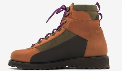 EKN Footwear Sneakers hoog 'Pine' in de kleur Bruin / Kaki / Zwart, Productweergave