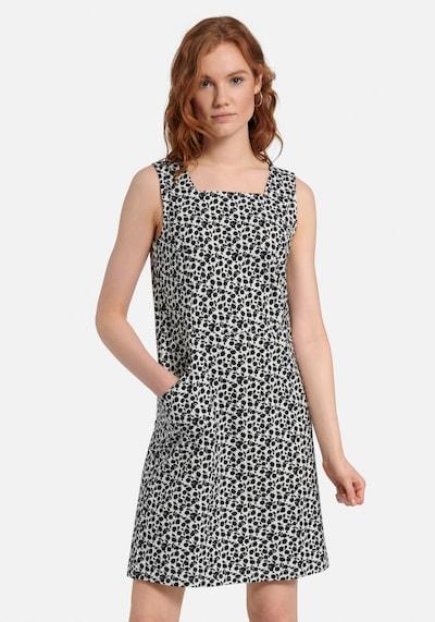 Green Cotton Kleid in schwarz / weiß, Modelansicht
