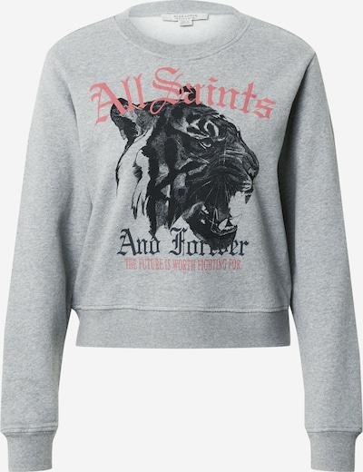 AllSaints Majica 'Tessa' | pegasto siva / rdeča / črna barva, Prikaz izdelka