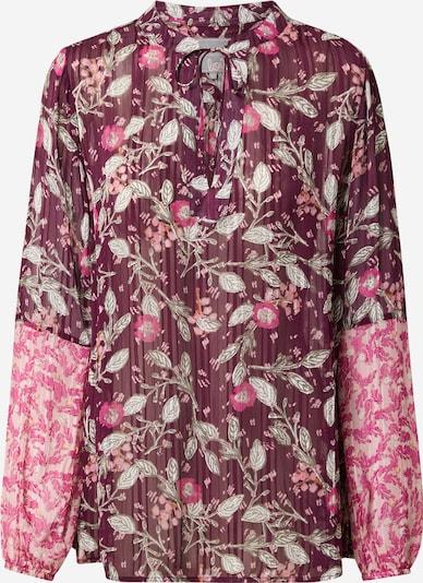 LIEBLINGSSTÜCK Bluse 'Elja' in pastellgrün / pink / hellpink / rotviolett, Produktansicht