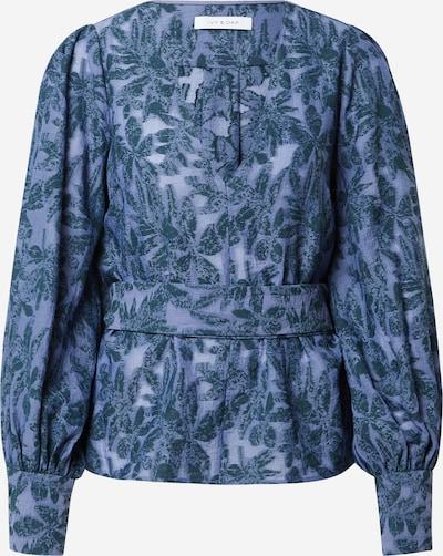 Bluză IVY & OAK pe albastru porumbel / verde petrol, Vizualizare produs