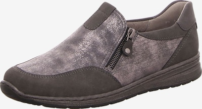 Jenny Slipper in taupe / graumeliert / silber: Frontalansicht