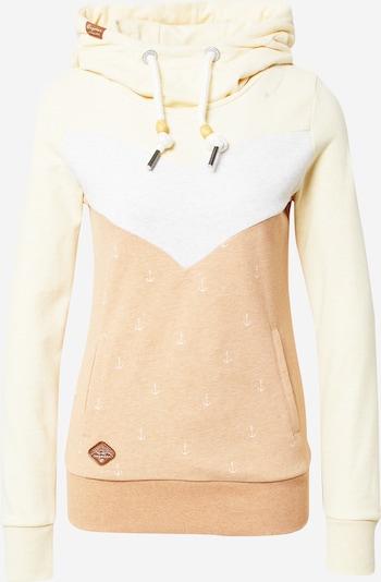Ragwear Sweater majica 'TREGA' u bež / svijetlosmeđa / pastelno žuta / bijela, Pregled proizvoda