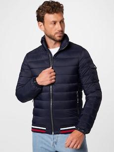 Přechodná prošívaná bunda značky SUPERDRY v tmavě modré barvě