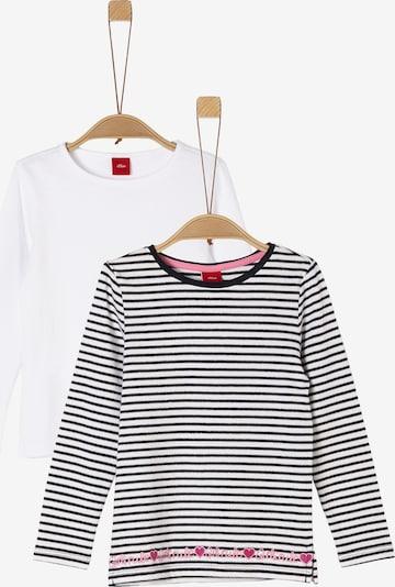 s.Oliver Shirt in pink / schwarz / weiß, Produktansicht