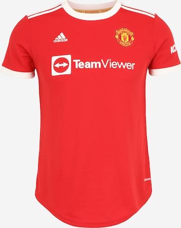 ADIDAS PERFORMANCE Spordisärk 'Manchester United 21/22', värv punane