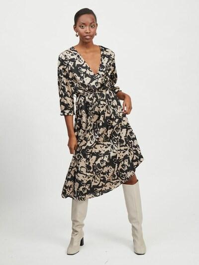 VILA Kleid in beige / schwarz, Modelansicht