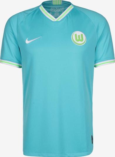 NIKE Trikot 'VfL Wolfsburg' in türkis / neongrün / weiß, Produktansicht
