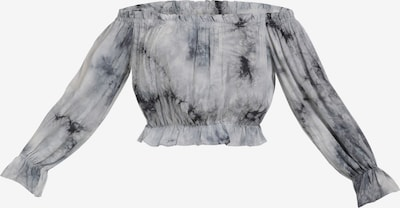 MYMO Bluse in hellgrau / dunkelgrau, Produktansicht