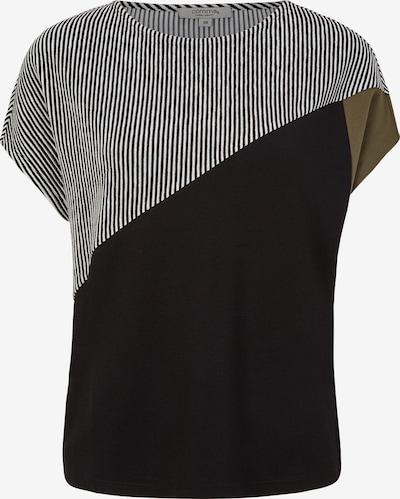 Ci comma casual identity Shirt in khaki / schwarz / weiß, Produktansicht