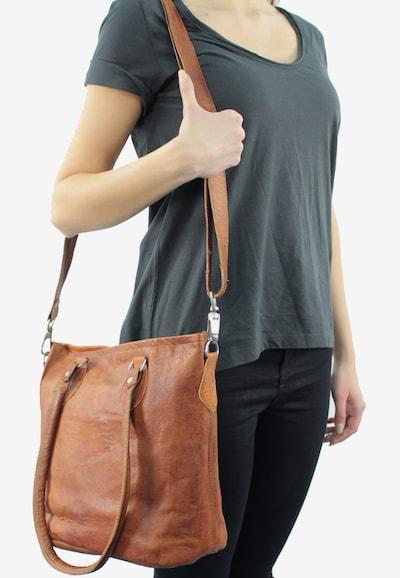 Gusti Leder Shopper 'Therese' in braun: Frontalansicht
