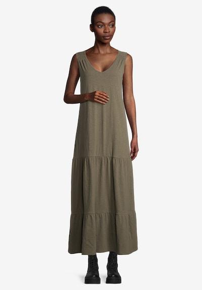 Cartoon Kleid in khaki, Modelansicht